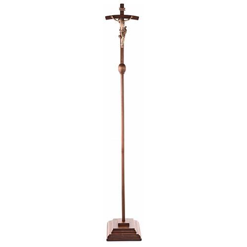 Cruz de procesión con base Leonardo cruz curva bruñido 3 colores 8