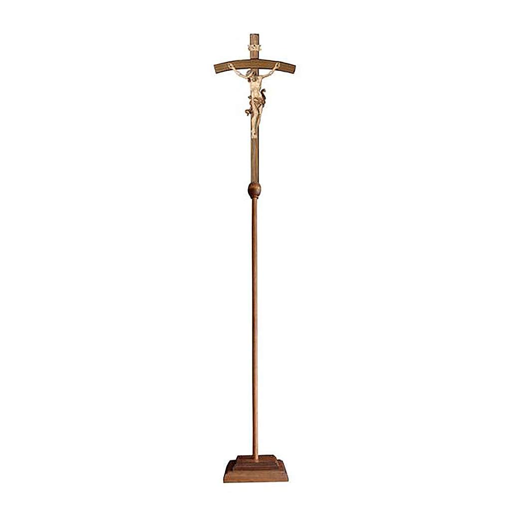 Croce astile con base Leonardo croce curva  brunita 3 colori 4