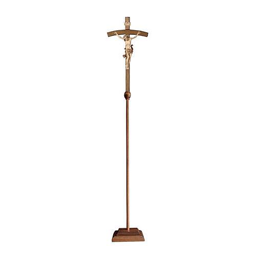 Croce astile con base Leonardo croce curva  brunita 3 colori 1