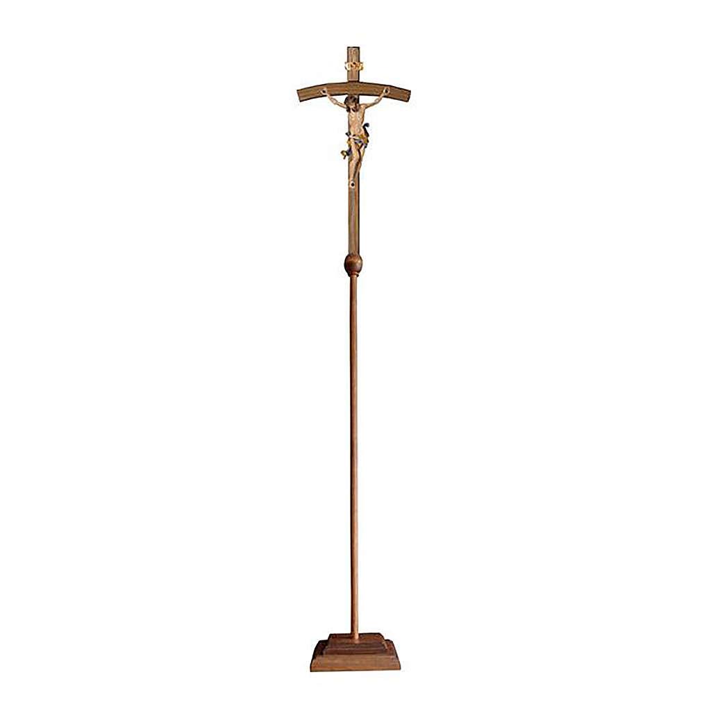 Croce astile con base Leonardo colorata croce curva 4