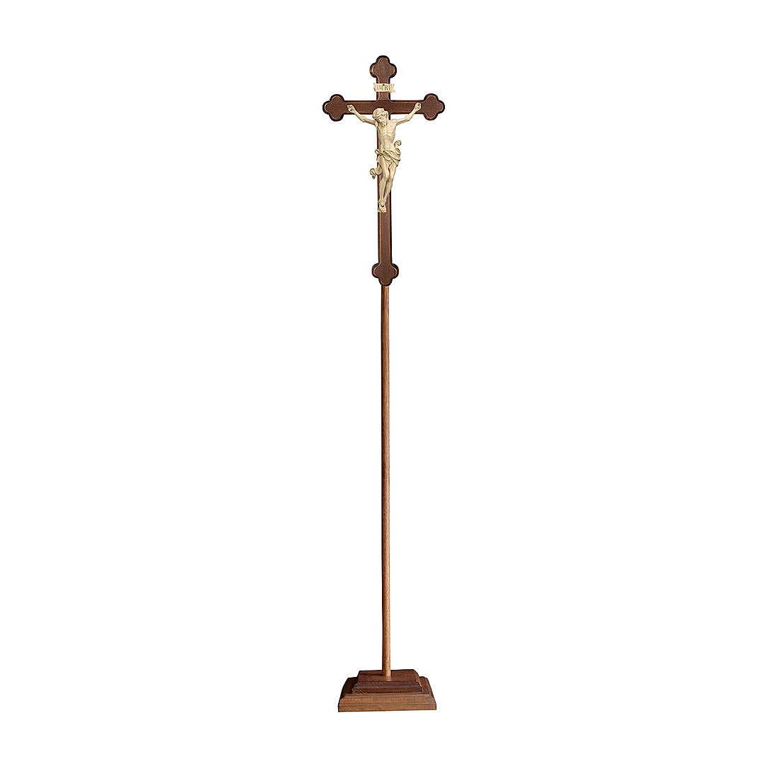 Croce processionale croce barocca brunita Leonardo cera filo oro 4