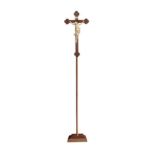 Croce processionale croce barocca brunita Leonardo cera filo oro 1