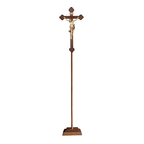 Croce processionale Leonardo brunita 3 colori croce barocca brunita 1