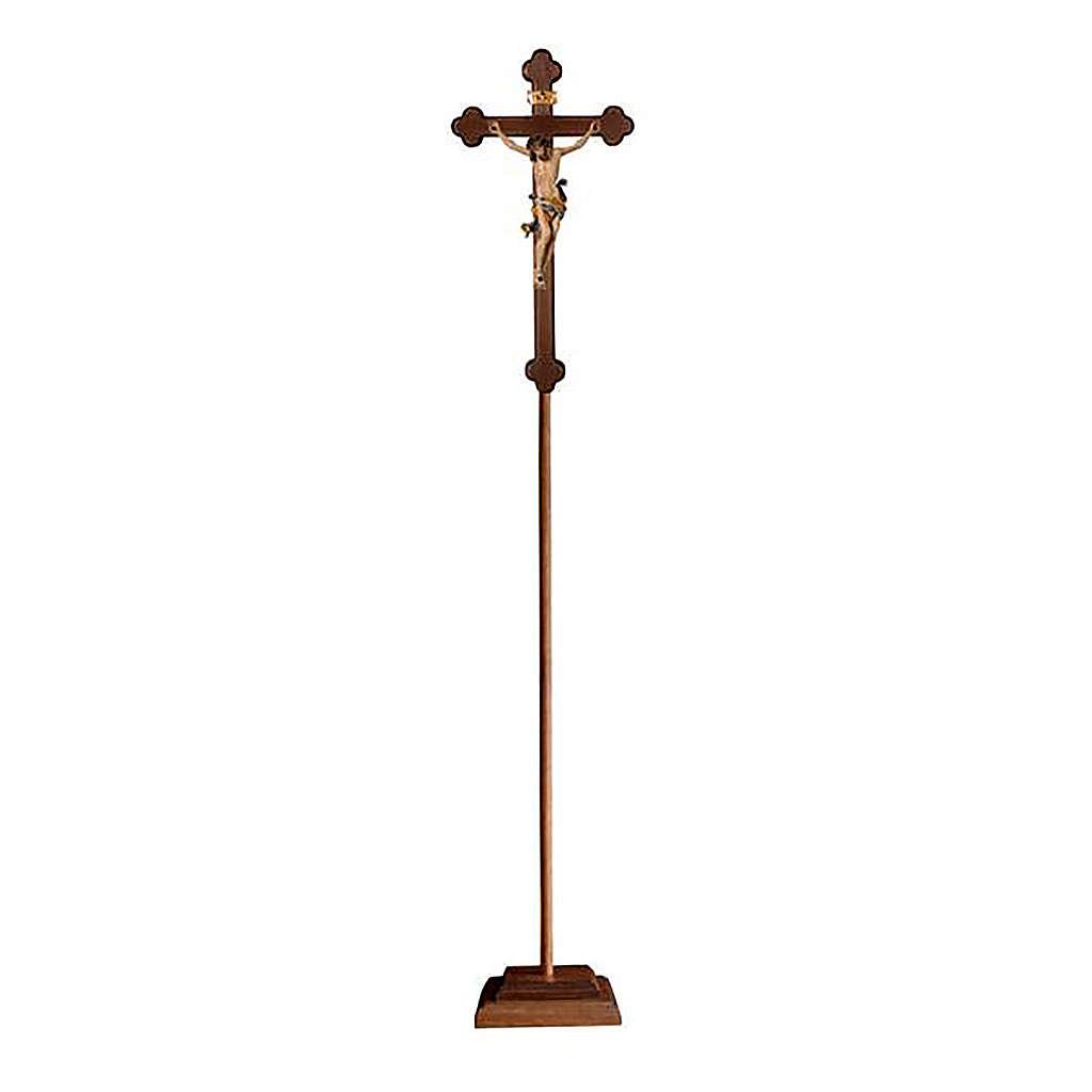Croce processionale Leonardo colorata croce barocca brunita 4