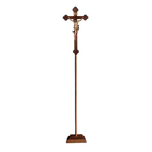 Croce processionale Leonardo colorata croce barocca brunita 1