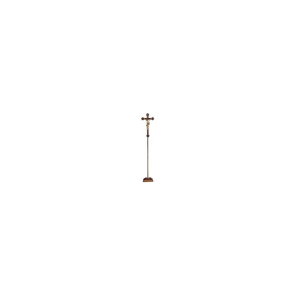 Croce processionale Leonardo croce barocca brunita oro zecchino antico 4