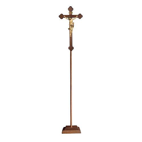 Croce processionale Leonardo croce barocca brunita oro zecchino antico 1