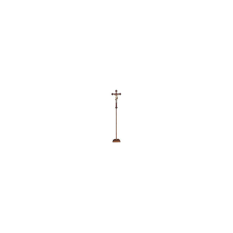 Croce processionale Leonardo croce barocca antica brunita 3 colori 4