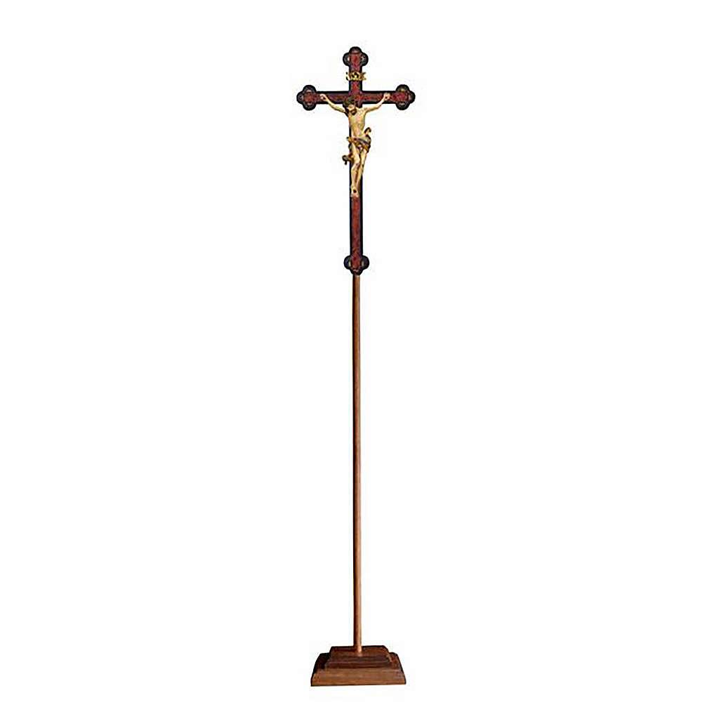 Croce astile con base Leonardo croce barocca antica oro zecchino antico 4