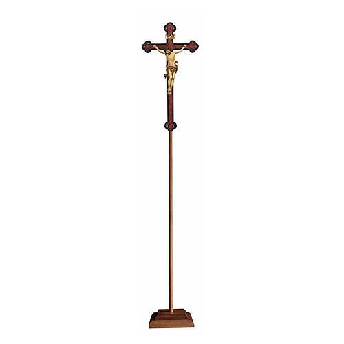 Croce astile con base Leonardo croce barocca antica oro zecchino antico 1