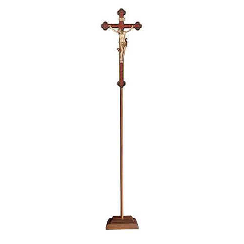 Croce astile con base Leonardo croce barocca oro  brunita 3 colori 1