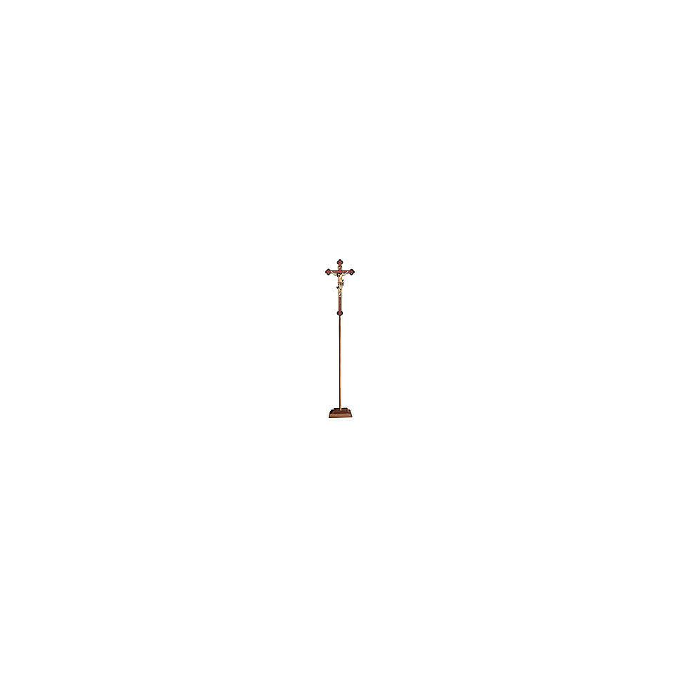 Croce astile con base Leonardo croce oro barocca oro zecchino antico 4