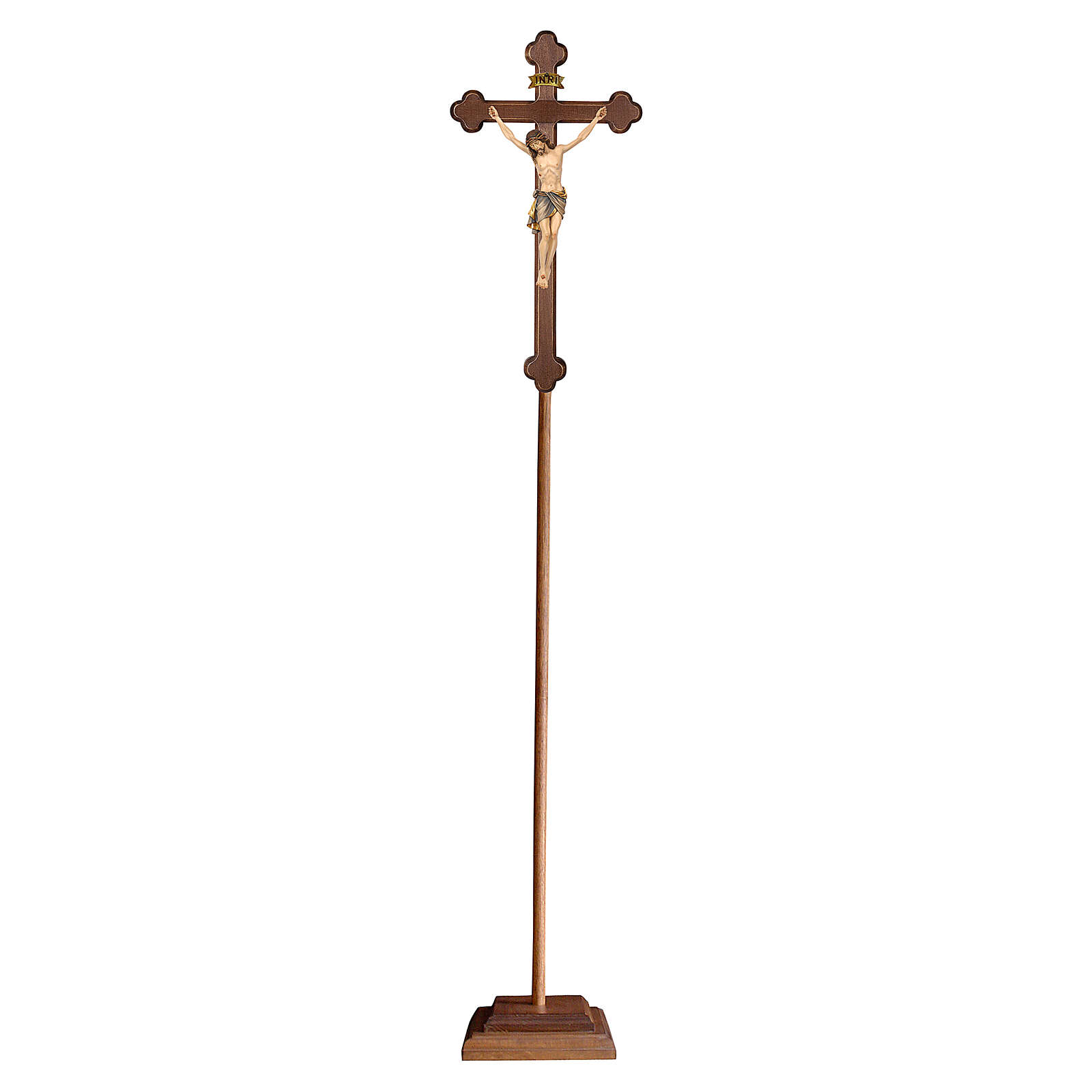Croce astile con base Siena croce oro barocca oro zecchino antico 4