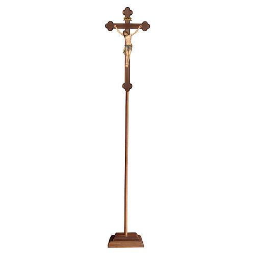 Cruz procissão com base Siena cruz ouro barroca ouro maciço antigo 1