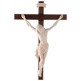 Cruz Cristo Siena de procesión con base madera natural s2