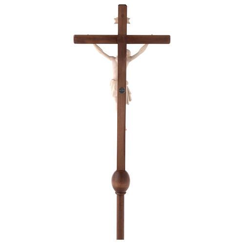 Cruz Cristo Siena de procesión con base madera natural 10