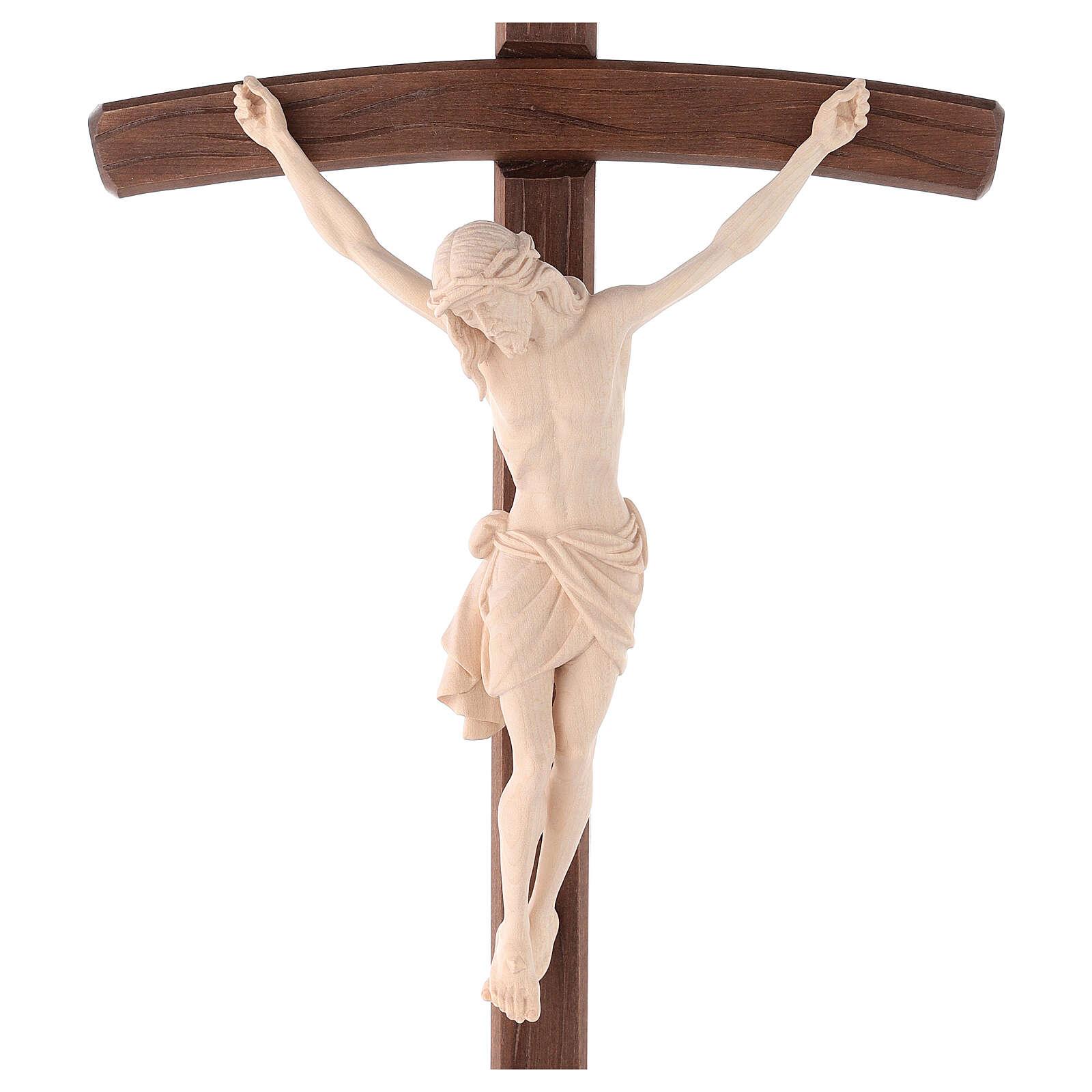 Cruz Cristo Siena de procesión madera natural cruz curva 4