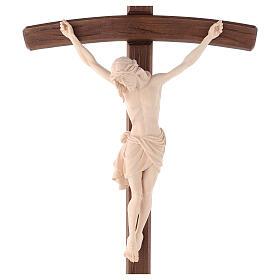 Cruz Cristo Siena de procesión madera natural cruz curva s2
