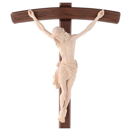 Cruz Cristo Siena de procesión madera natural cruz curva 2