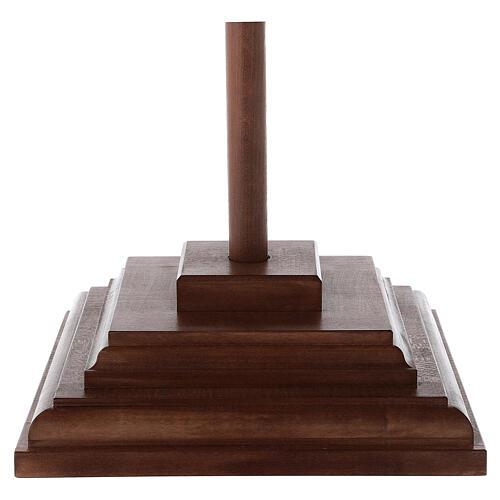 Cruz Cristo Siena de procesión madera natural cruz curva 7
