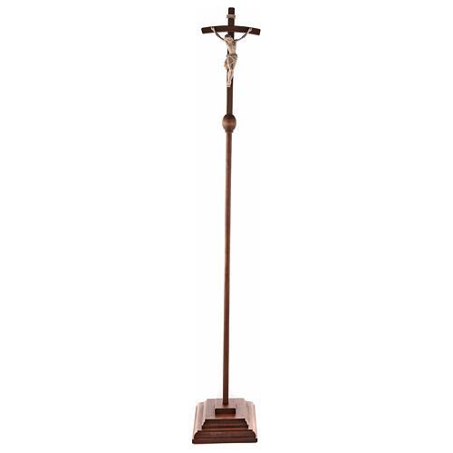 Cruz Cristo Siena de procesión madera natural cruz curva 10