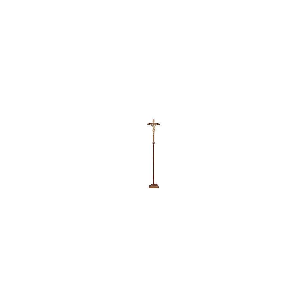 Croce astile processionale Cristo Siena  croce curva  brunita 3 colori 4