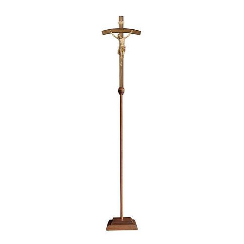 Croce astile processionale Cristo Siena  croce curva  brunita 3 colori 1