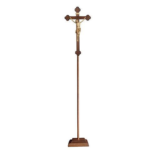 Croce astile processionale Cristo Siena  brunita 3 colori croce barocca brunita  1
