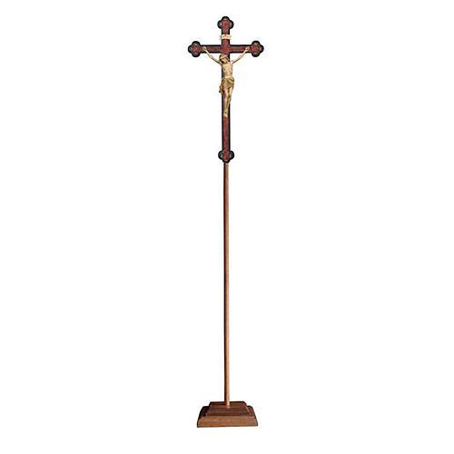 Croce astile con base  Cristo Siena  croce barocca antica brunita 3 colori 1