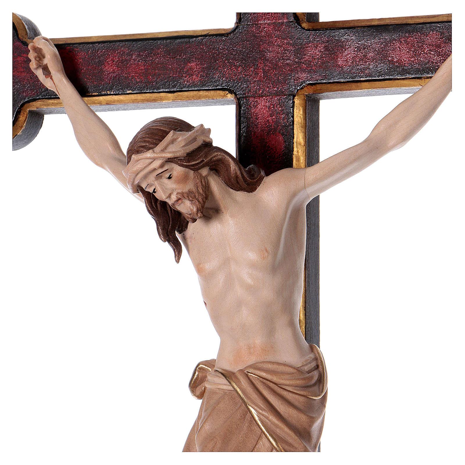 Cruz de procesión con base Cristo Siena cruz barroca oro bruñida 3 colores 4