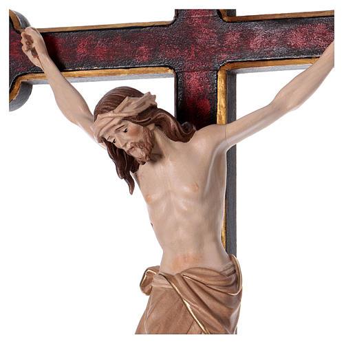 Cruz de procesión con base Cristo Siena cruz barroca oro bruñida 3 colores 2