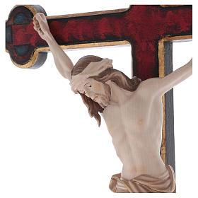 Croce astile con base  Cristo Siena  croce barocca oro  brunita 3 colori s2