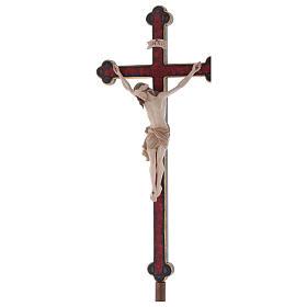 Croce astile con base  Cristo Siena  croce barocca oro  brunita 3 colori s3