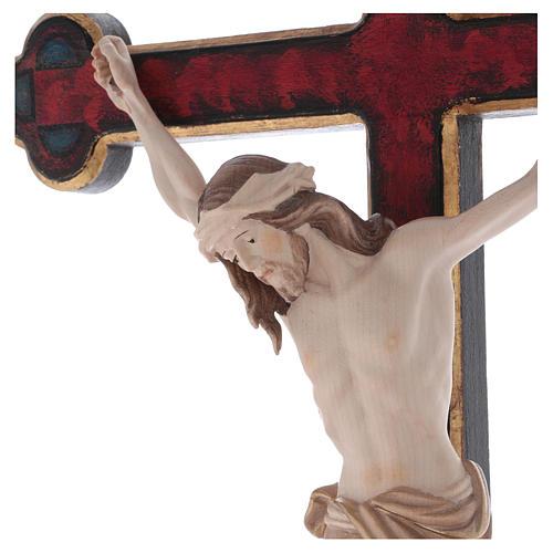 Croce astile con base  Cristo Siena  croce barocca oro  brunita 3 colori 2
