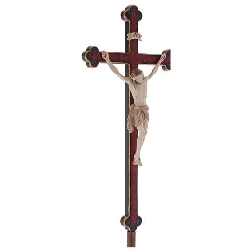 Croce astile con base  Cristo Siena  croce barocca oro  brunita 3 colori 4