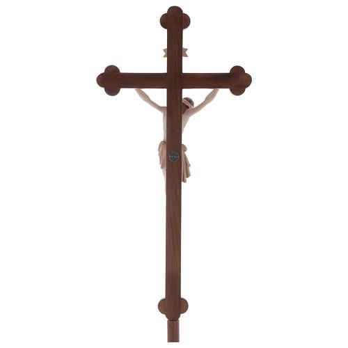 Croce astile con base  Cristo Siena  croce barocca oro  brunita 3 colori 5