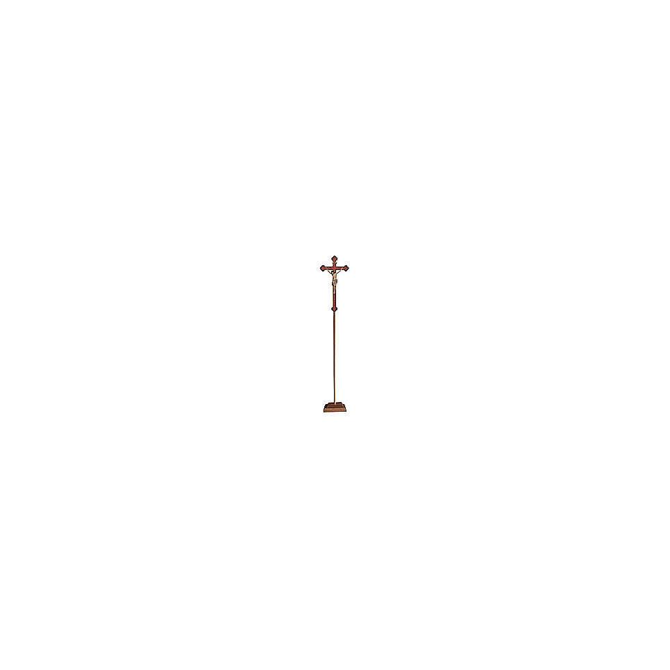 Croce astile con base  Cristo Siena  croce oro barocca oro zecchino antico 4