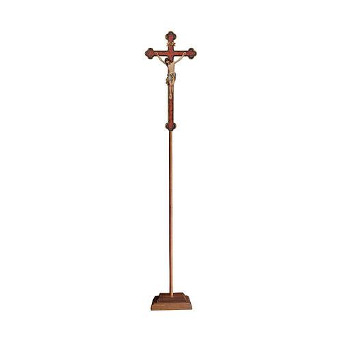 Croce astile con base  Cristo Siena  croce oro barocca oro zecchino antico 1