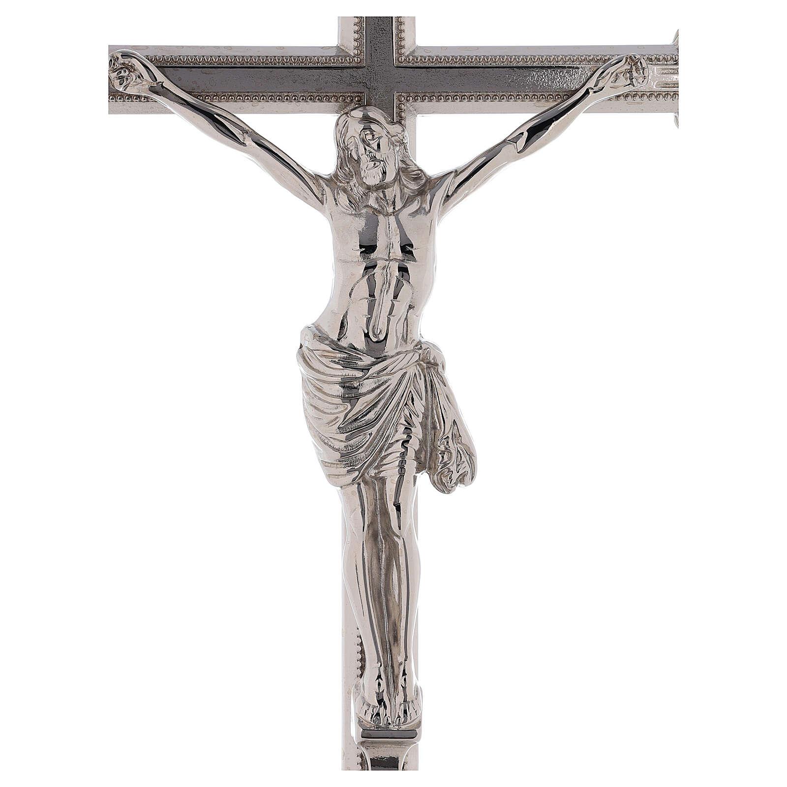 Cruz de procesión latón niquelado 205 cm 4
