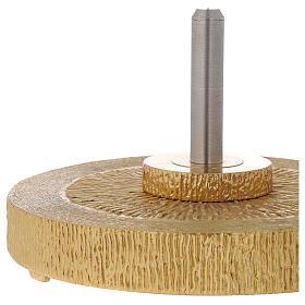STOCK Base para cruz astil de bronce dorado s2