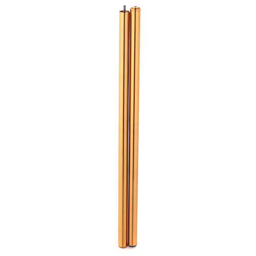 Cruz procesional dorado con cristales 6
