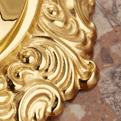 Base portacruz mármol latón decorado 5