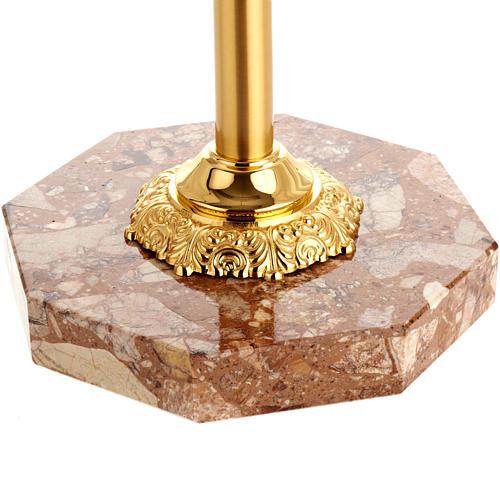 Base portacroce ottone con marmo 2