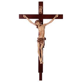 Croce astile legno di noce s1