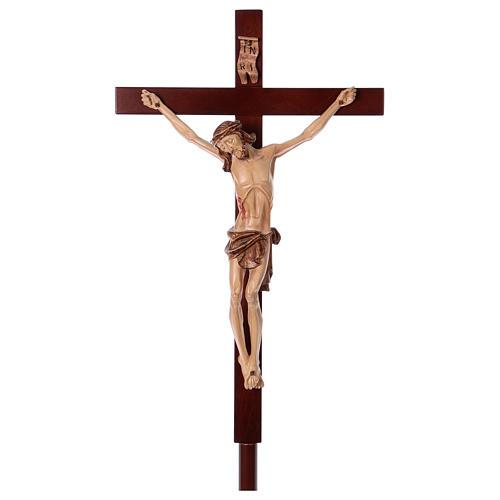 Krzyż procesyjny drewno orzech włoski 1