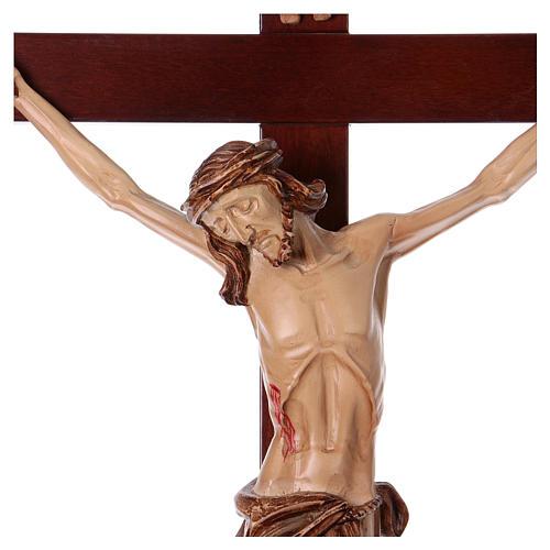 Krzyż procesyjny drewno orzech włoski 2