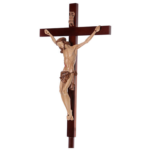 Krzyż procesyjny drewno orzech włoski 3