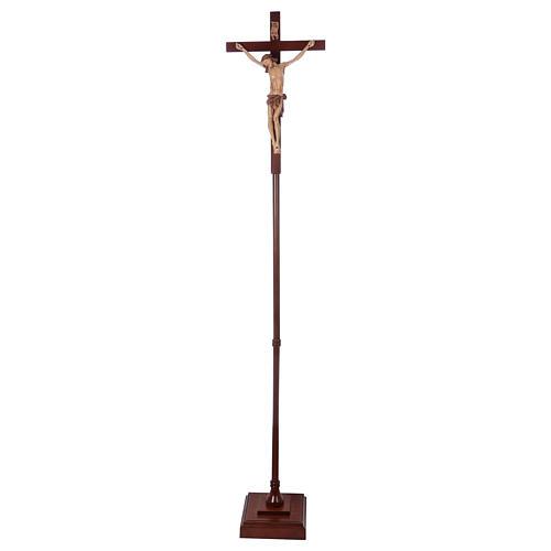 Krzyż procesyjny drewno orzech włoski 5