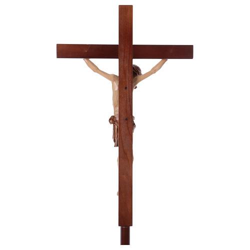 Krzyż procesyjny drewno orzech włoski 7