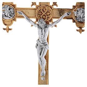 Croce astile ottone fuso 54x35 cm s2